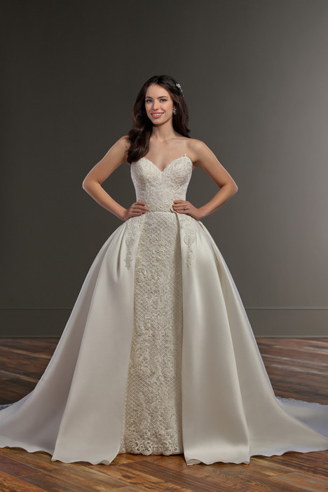 909 (+ overskirt) Wedding                                          dress by Martina Liana