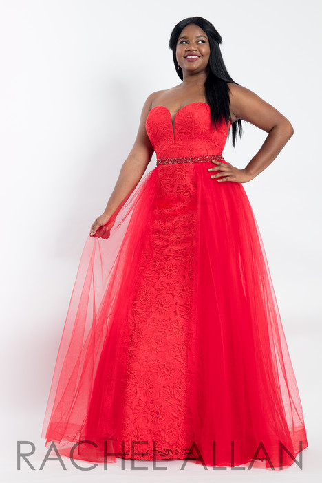 6300 (Red) Prom                                             dress by Rachel Allan : Curves