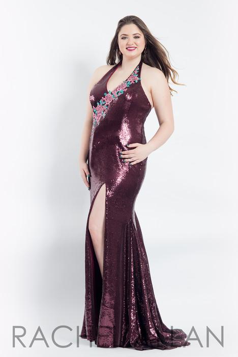 6302 (Aubergine) Prom                                             dress by Rachel Allan : Curves