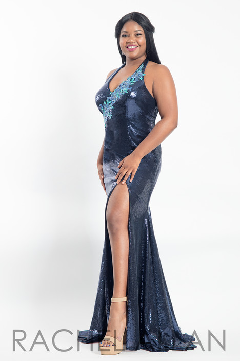 6302 (Navy) Prom                                             dress by Rachel Allan : Curves