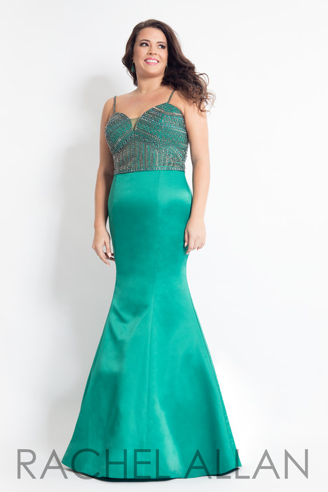 6303 (Emerald) Prom                                             dress by Rachel Allan : Curves