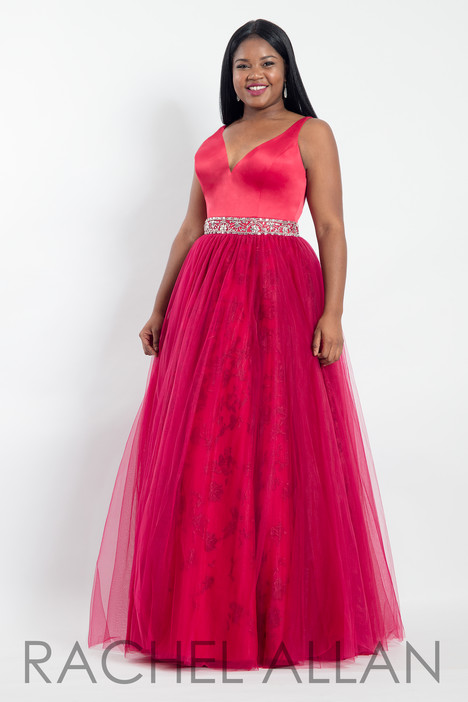 6304 (Red) Prom                                             dress by Rachel Allan : Curves