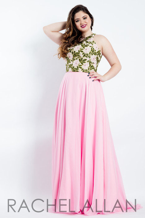 6306 (Pink) Prom                                             dress by Rachel Allan : Curves