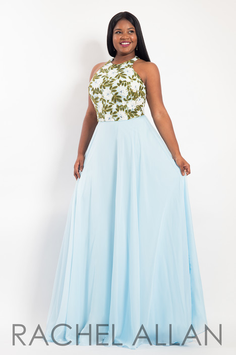 6306 (Sky Blue) Prom                                             dress by Rachel Allan : Curves