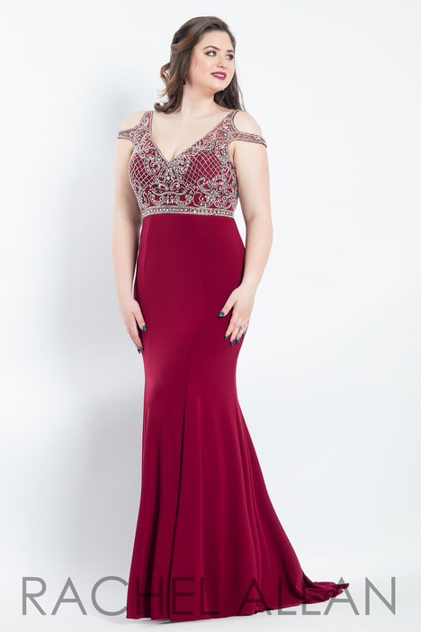 6308 (Aubergine) Prom                                             dress by Rachel Allan : Curves