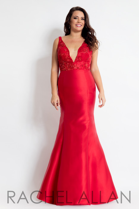 6310 (Red) Prom                                             dress by Rachel Allan : Curves
