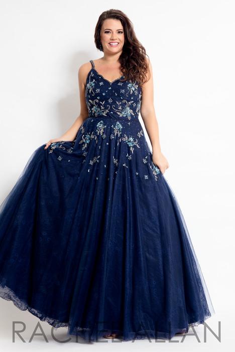 6311 (Navy) Prom                                             dress by Rachel Allan : Curves