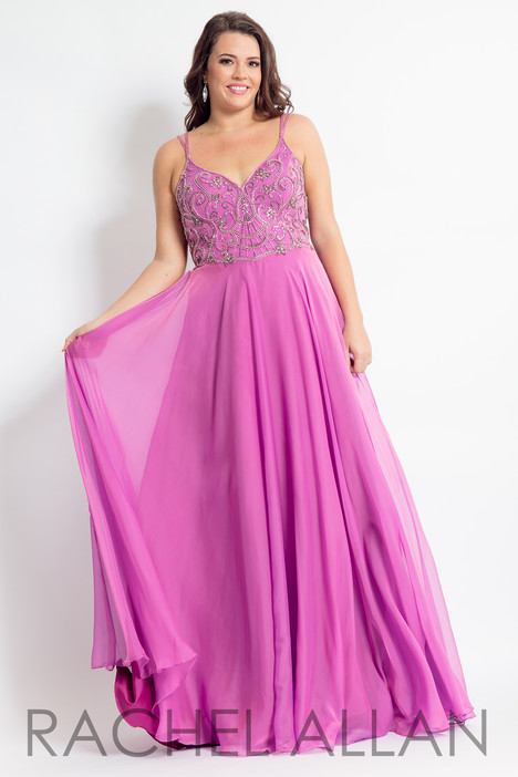 6316 (Pink) gown from the 2018 Rachel Allan : Curves collection, as seen on dressfinder.ca