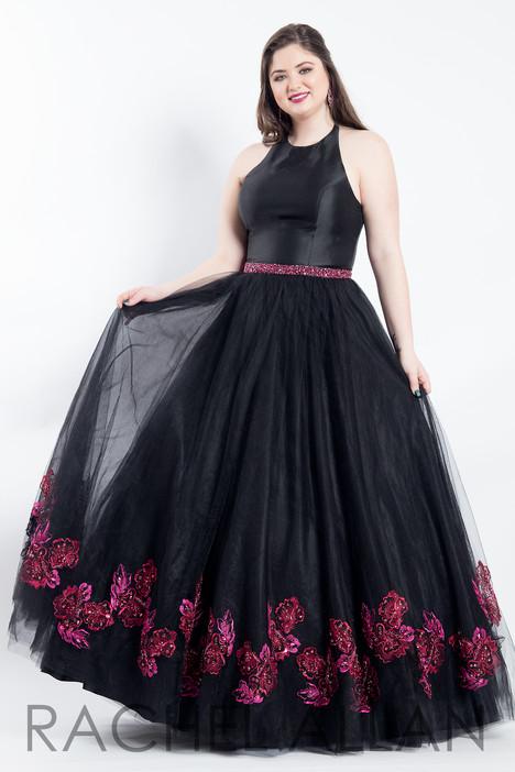 6317 (Black) Prom                                             dress by Rachel Allan : Curves