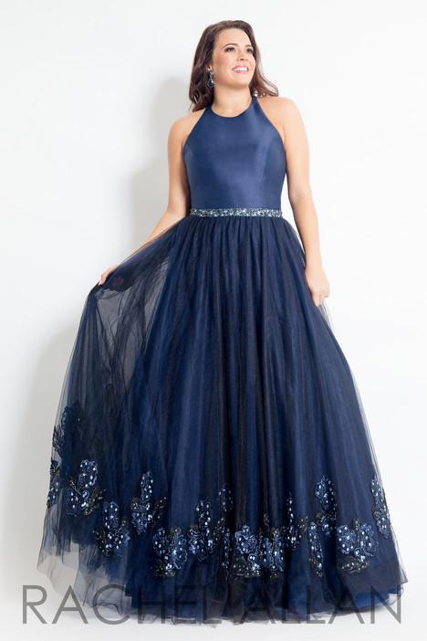 6317 (Navy) Prom                                             dress by Rachel Allan : Curves