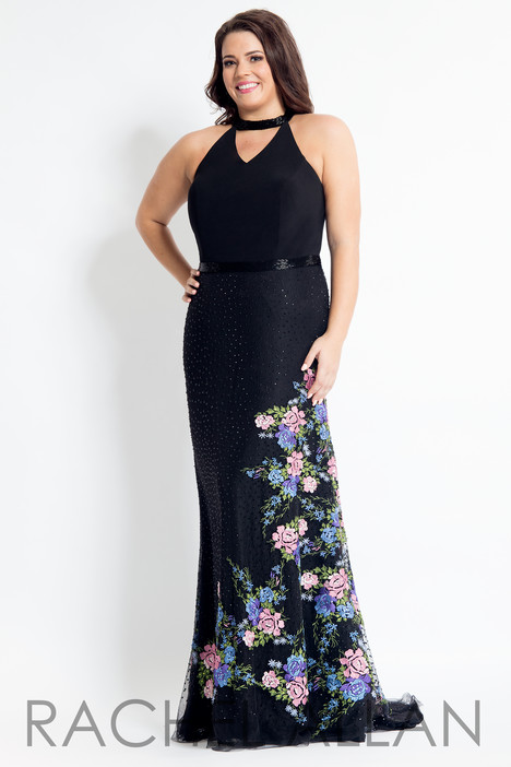 6318 (Black) Prom                                             dress by Rachel Allan : Curves