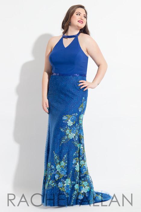 6318 (Blue) Prom                                             dress by Rachel Allan : Curves