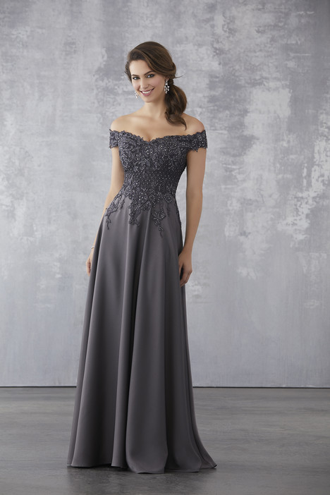 71717 (Charcoal) Mother of the Bride                              dress by Mori Lee : MGNY