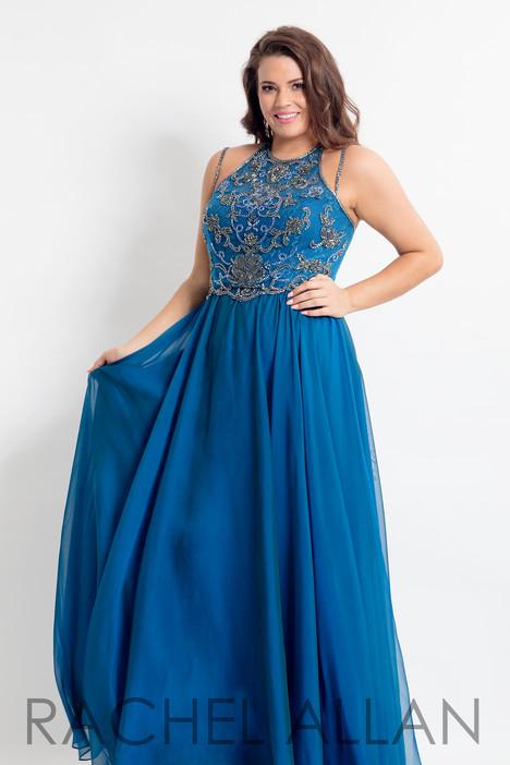 6321 (Blue) Prom                                             dress by Rachel Allan : Curves