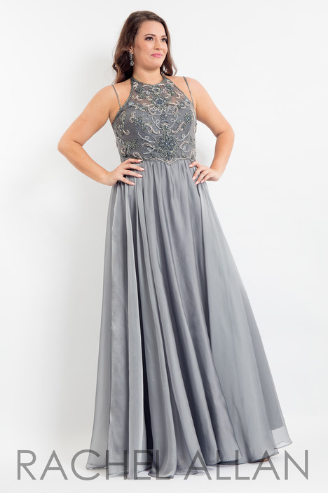 6321 (Grey) Prom                                             dress by Rachel Allan : Curves