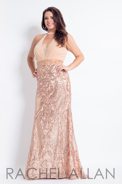 6322 (Champagne) Prom                                             dress by Rachel Allan : Curves