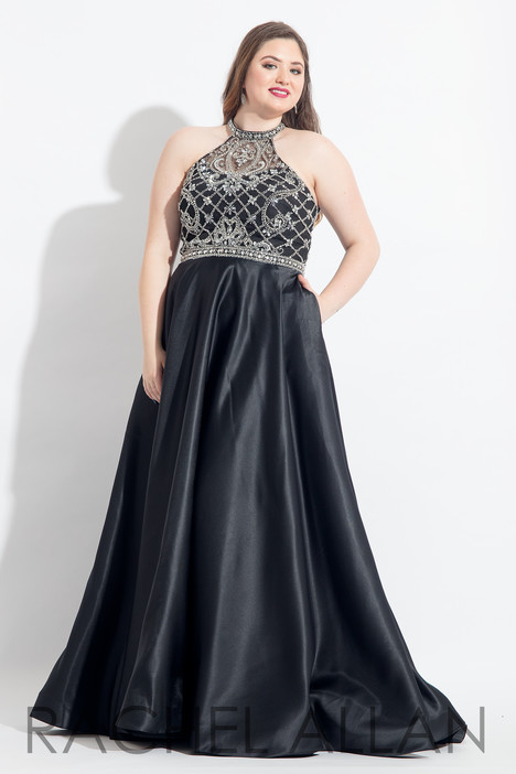 6325 (Black) Prom                                             dress by Rachel Allan : Curves