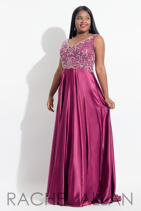 6329 (Magenta) Prom dress by Rachel Allan : Curves