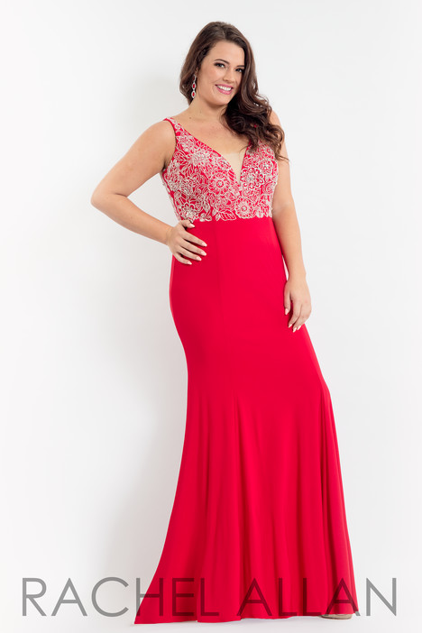 6333 (Red) Prom dress by Rachel Allan : Curves