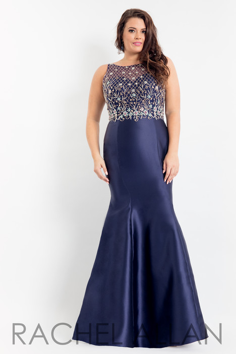 6334 (Navy) Prom                                             dress by Rachel Allan : Curves