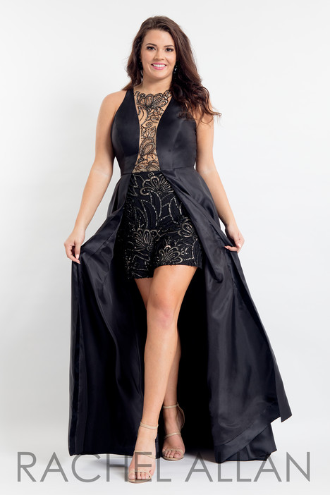 6336 (Black) Prom dress by Rachel Allan : Curves