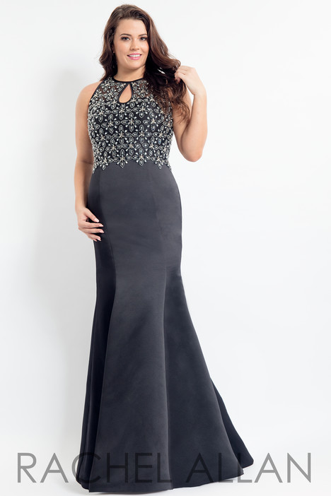 6339 (Black) Prom                                             dress by Rachel Allan : Curves