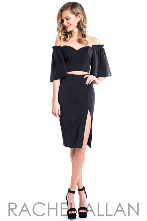 L1085 (Black) Prom                                             dress by Rachel Allan : LBD