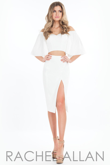 L1085 (White) Prom                                             dress by Rachel Allan : LBD