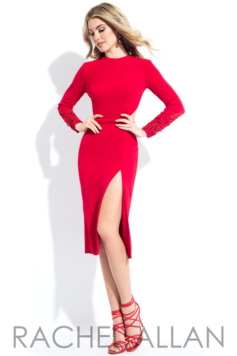L1087 (Red) Prom                                             dress by Rachel Allan : LBD