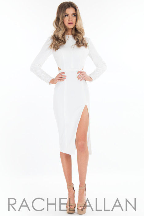 L1087 (White) Prom                                             dress by Rachel Allan : LBD