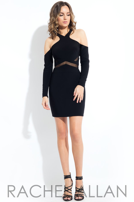 L1101 (Black) Prom                                             dress by Rachel Allan : LBD
