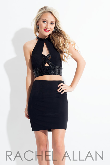 L1135 (Black) gown from the 2018 Rachel Allan : LBD collection, as seen on dressfinder.ca