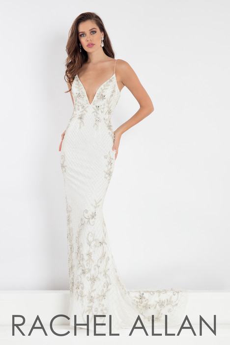 5014 (White) Prom                                             dress by Rachel Allan : Prima Donna