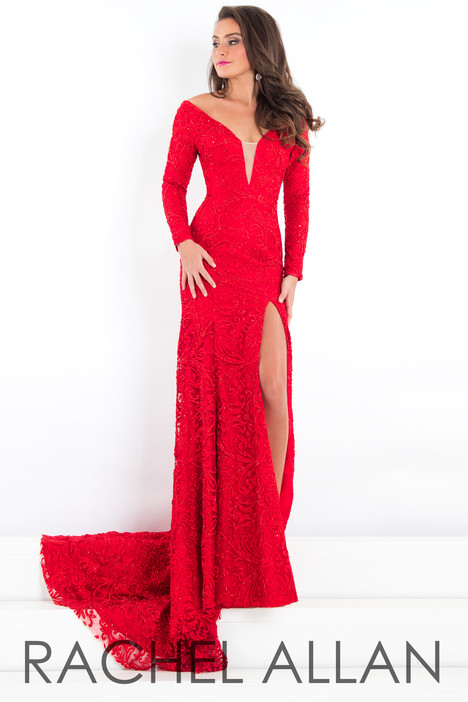 5941 (Red) Prom                                             dress by Rachel Allan : Prima Donna