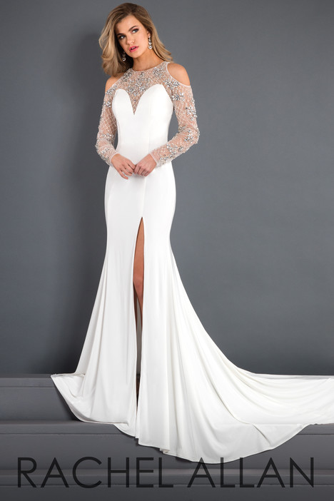 5943 (White) Prom                                             dress by Rachel Allan : Prima Donna