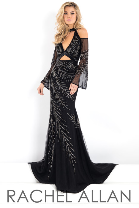 5945 (Black) gown from the 2018 Rachel Allan : Prima Donna collection, as seen on dressfinder.ca