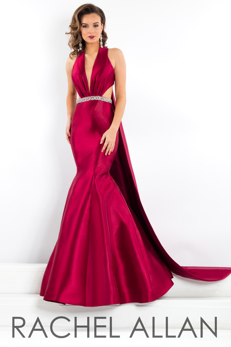 5951 (Wine) gown from the 2018 Rachel Allan : Prima Donna collection, as seen on dressfinder.ca