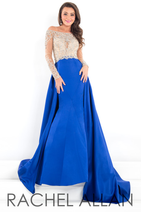 5953 (Blue) gown from the 2018 Rachel Allan : Prima Donna collection, as seen on dressfinder.ca
