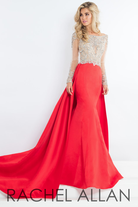 5953 (Red) gown from the 2018 Rachel Allan : Prima Donna collection, as seen on dressfinder.ca