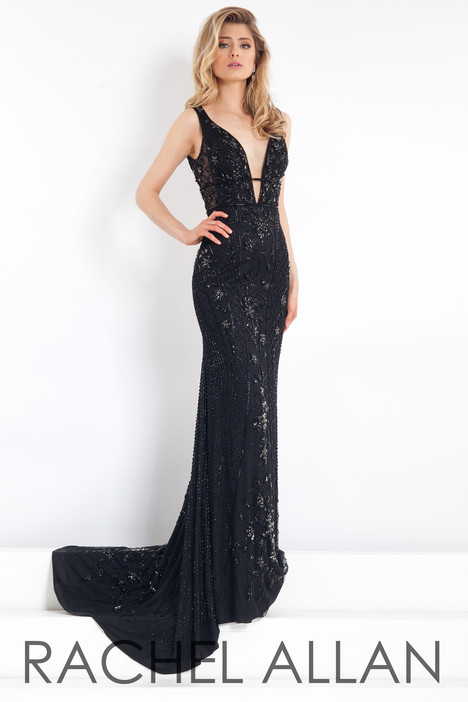 5957 (Black) gown from the 2018 Rachel Allan : Prima Donna collection, as seen on dressfinder.ca