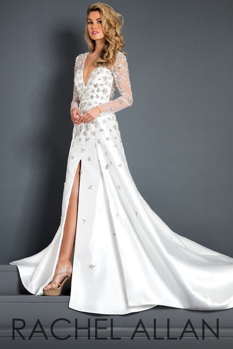 5962 (White) Prom                                             dress by Rachel Allan : Prima Donna