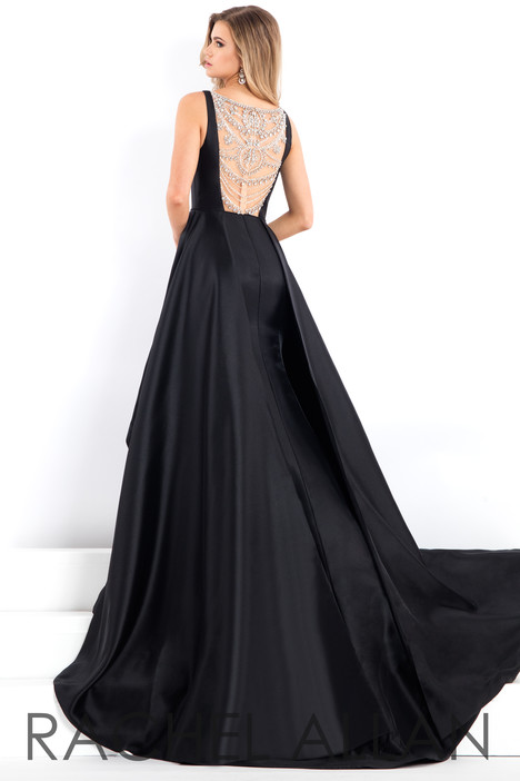 5965 (Black) (Back) Prom dress by Rachel Allan : Prima Donna