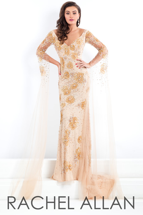5976 (Champagne) gown from the 2018 Rachel Allan : Prima Donna collection, as seen on dressfinder.ca