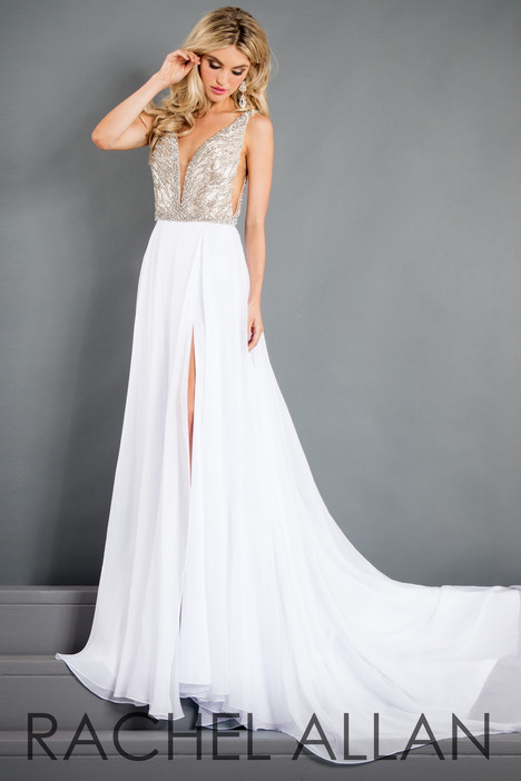 5981 (White) Prom                                             dress by Rachel Allan : Prima Donna
