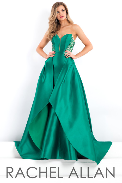 5988 (Green) gown from the 2018 Rachel Allan : Prima Donna collection, as seen on dressfinder.ca