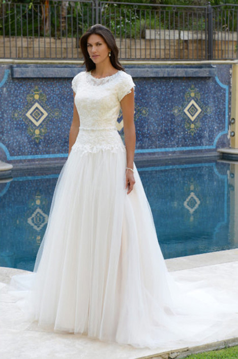 TB7744 Wedding                                          dress by Venus Modest