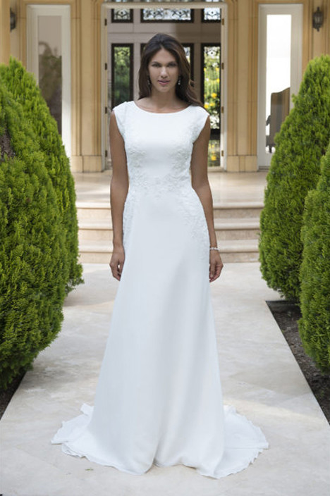 TB7745 Wedding                                          dress by Venus Modest