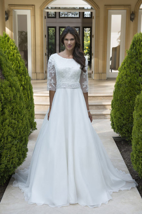 TB7748 Wedding                                          dress by Venus Modest