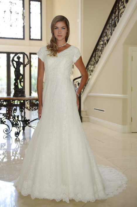 TB7750 Wedding                                          dress by Venus Modest