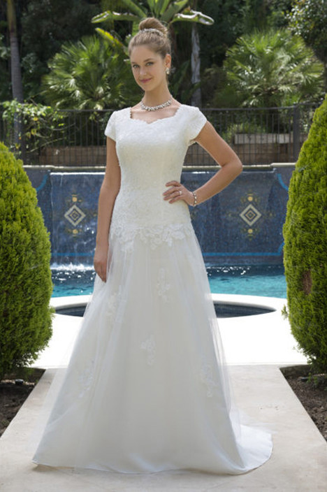 TB7756 Wedding                                          dress by Venus Modest